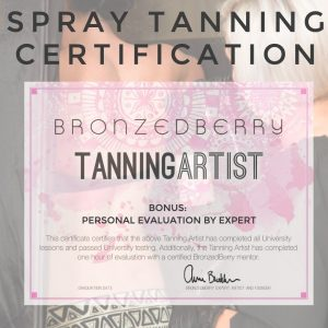 spray tan certification